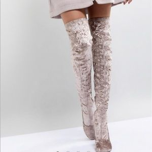 ASOS KATCHER Heeled Over The Knee Boots